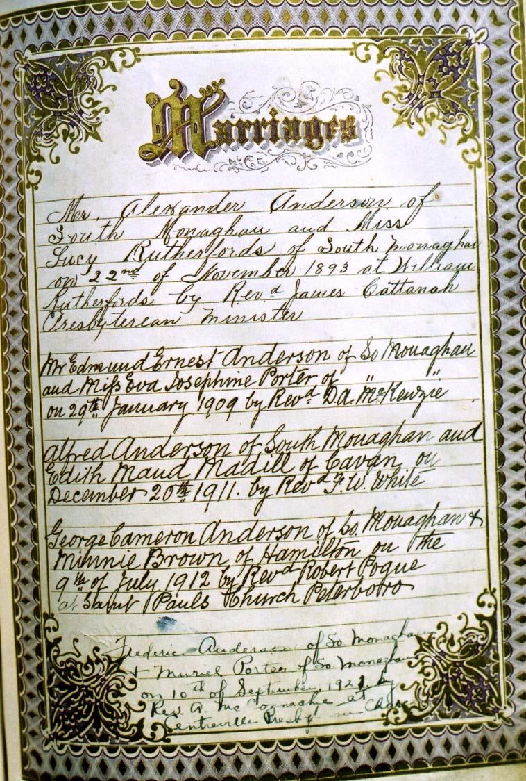 Anderson Genealogy Photopage
